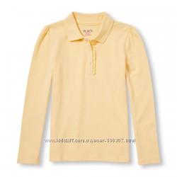 Школьное поло 155-159см The Children&acutes Place с длинным рукавом желтое
