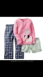 Комплект домашней одежды, 3 вещи, пижамы Carters, размер 4Т новый