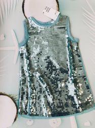 Шикарные платья H&M, в пайетки, р92 есть замеры