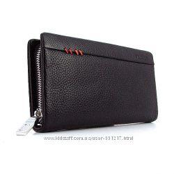 Клатч кожаный мужской clutch черный Bally 2617-6