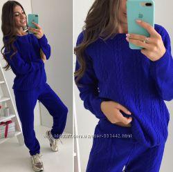 1259154de0a Супер цена Стильный вязаный костюм косички в расцветках
