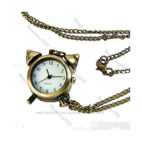 Ожерелье или карманные часы - ретро Будильник