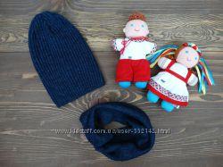 Демисезонный набор шапка и хомут Борис унисекс р. 54-56 5 цветов