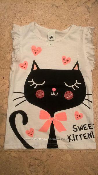 Новые модные футболки для девочек известных ТМ