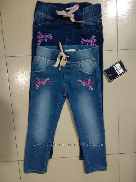 Новые джеггинсы джинсы с вышивкой для девочки Oshkosh 2-5 лет