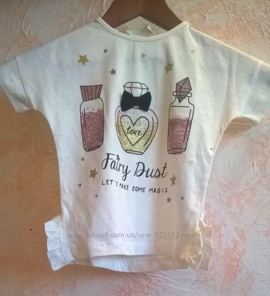 Новые модные футболки  для девочки Terranova 3-16 лет