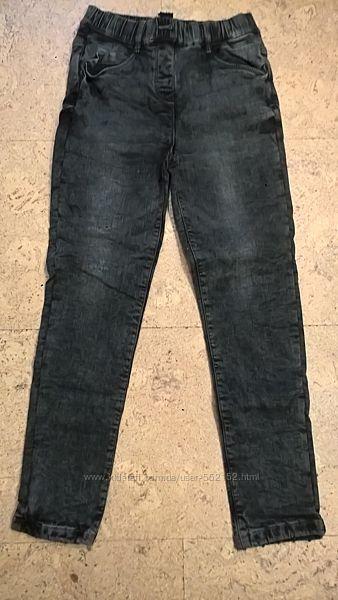 Новые зимние джинсы штаники на флисе на девочек 110-150 см