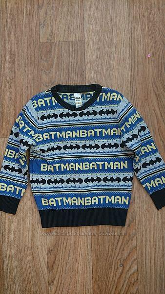 Cвитер Batman на мальчика 5-7лет.
