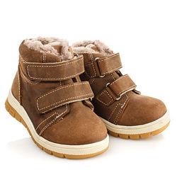 Зимние ботинки из нубука на натуральном меху Артикул 18527