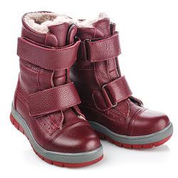 Зимние ботинки из натуральнай кожи и меха Артикул 18842