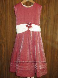 Испанское нарядное платье Miranda. Цвет серебрянно-красный, хамелеон