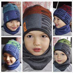 Демисезонные  шапки для мальчиков . Польша