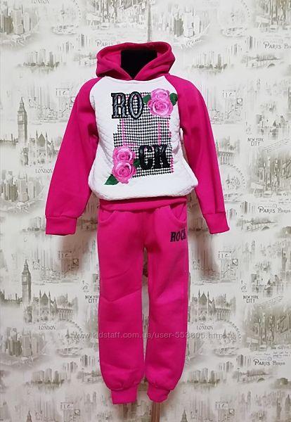 Спортивный костюм с начесом для девочек, 104, 110-116, 146-152
