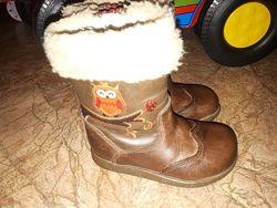 Деми сапожки, ботинки Clarks, кожа 20 размер 12,5см