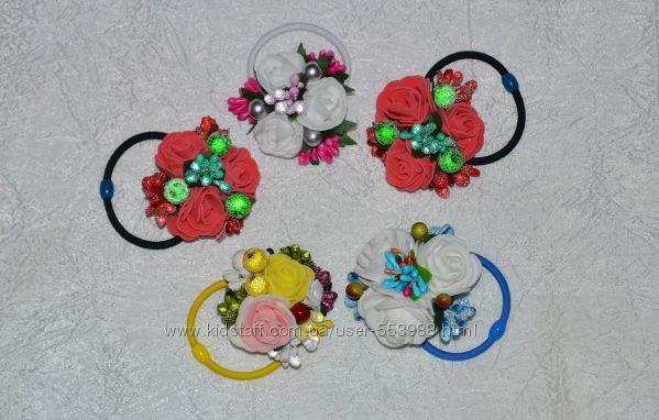 Цветочные резиночки для волос