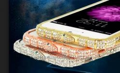 металлический бампер с камнями Fashion Snake для IPhone 5 5s 6 6S