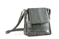 Маленькая мужская сумка из натуральной кожи