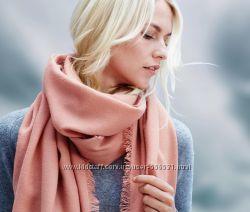 Тканный розовый шарф Tchibo. Размер 200100.