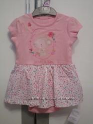 Милейшее платье-бодик Mothercare, размер 6-9 мес