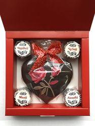 Шоколадні серця до Дня закоханих