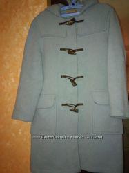 Прекрасное английское пальто дафлкот шерсть 70 на молнии англ. бренда