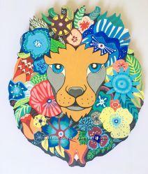 Сказочная голова льва для декора