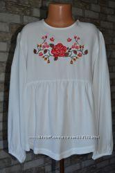 Блузка - вышиванка Zara Girls 11 - 12 лет, 152 см.