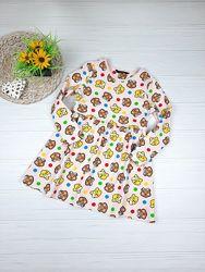 Платье с милыми мишками George 5-6 лет, 110-116 см.