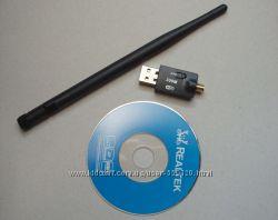 Беспроводной сетевой USB WI-FI адаптер, скорость до 300 Мбитс, антенна