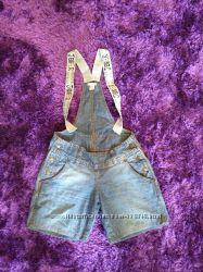 Шорты-комбез H&M, р. S, джинсовые