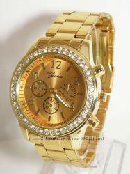 Стильные часы Geneva со стразами 3 цвета