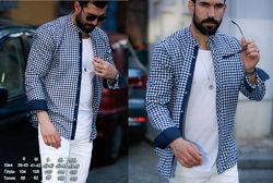 Стильная мужская рубашка в клетку новинка