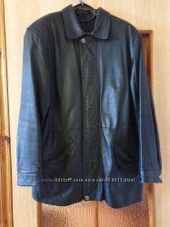 Качественная мужская кожаная куртка 56 размера