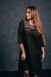 Платье трапеция хлопковый замш Украина Италия много моделей MD VERa