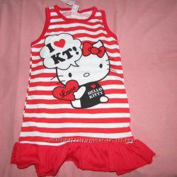 Платье трикотажное на девочку 2-4 года.