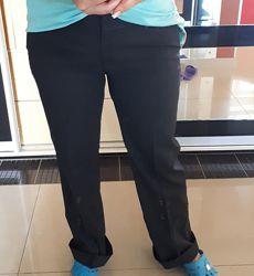 Классические ровные брюки для пышных форм