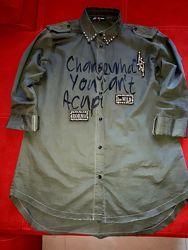 Модная стильная рубашечка 46-48р