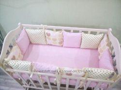 Подушка защита бортик бампер в детскую кроватку