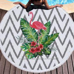 Пляжный коврик. Тропический Фламинго