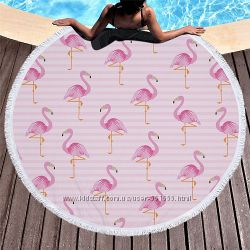 Пляжный коврик. Фламинго