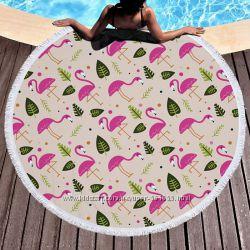Пляжный коврик. Летний Фламинго