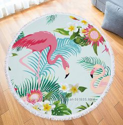 Пляжный коврик. Два Фламинго.
