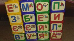 Кубики конструктор с буквами
