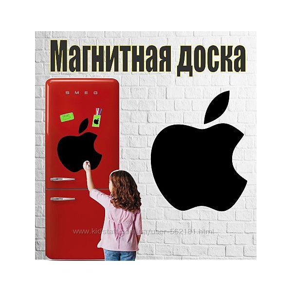 Магнитная доска на холодильник Яблоко 30х35см