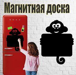 Магнитная доска на холодильник Обезьянка большая 40х50см