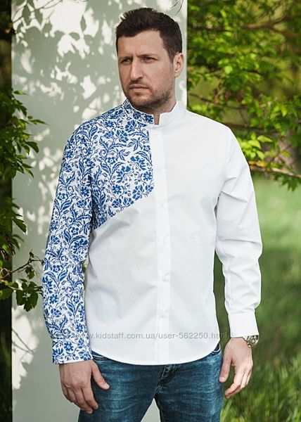 Рубашка мужская льняна Дивограй