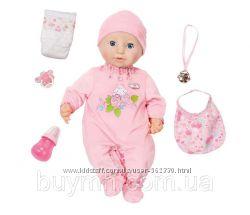 Интерактивная кукла Baby Annabell Настоящая малютка 43 см с аксессуарами