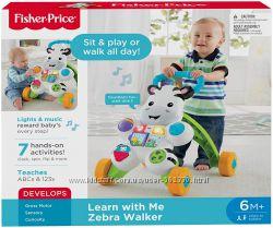 Интерактивные ходунки-толкатель Зебра Fisher-Price Learn With Me Zebra Baby