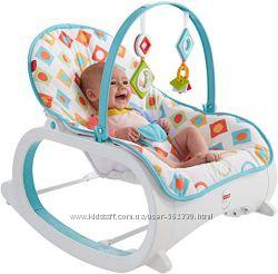 Массажное кресло-качалка шезлонг Гео бриллиант Fisher-Price до 18 кг