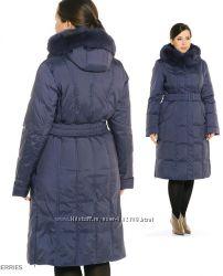 Продам красивое женственное пальто-пуховик